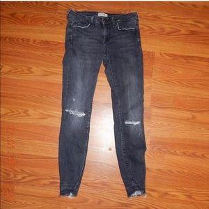 Zara low rise jeans